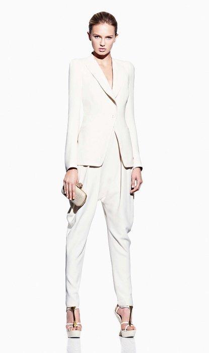 Blanco Alexander McQueen lookbook Primavera-Verano 2012