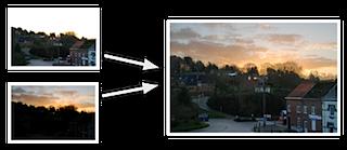 combinación de imágenes en una HDR