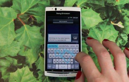 Sony Ericsson presenta 'Gesture Input', un Swype para sus teléfonos