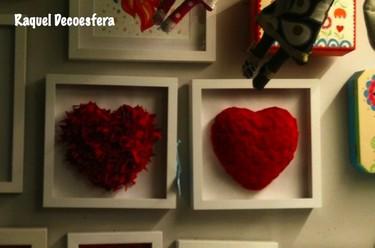 Hemos visto... corazones enmarcados para San Valentín, entre otras cosas