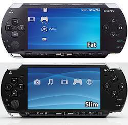Galería de fotos comparativa entre PSP y PSP Slim