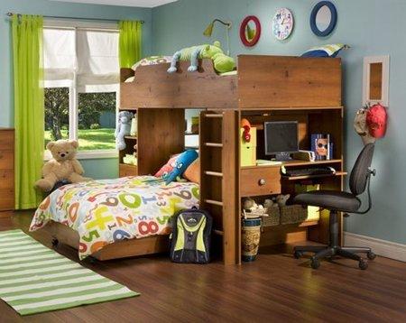 Dormitorios compactos para j venes y ni os - Dormitorios con poco espacio ...