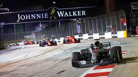 Hamilton Singapur F1 2018