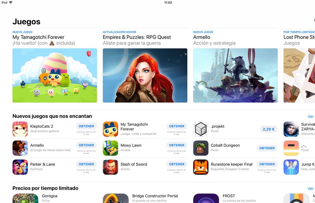 App Store Juegos Ios 11