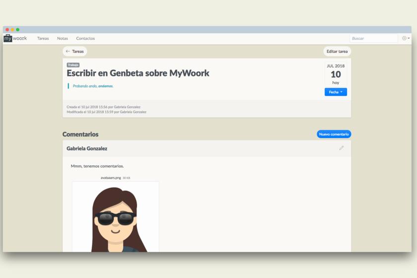 Mywoork un gestor de notas tareas y contactos para - Trabajar en facebook espana ...