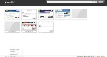 Speedtile, nuevo marcador visual de sitios web
