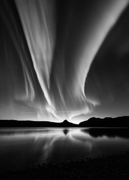 Black And White Aurora Kolbein Svensson