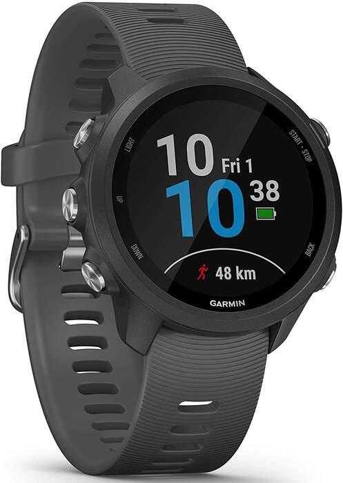 Smartwatch Garmin Forerunner 245 Gris - Pulsioxímetro, GPS, Cronómetro, Acelerómetro, Bluetooth
