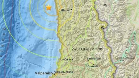 Chile se encuentra bajo alerta debido a un fuerte terremoto de magnitud 8,3