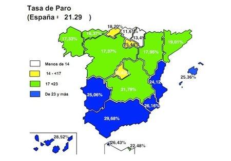 Andalucía: 29,68% de paro, no hay palabras...(mapa autonómico)