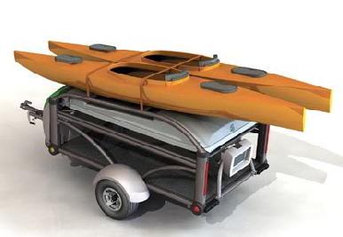 Remolque de coche para camping y actividades deportivas