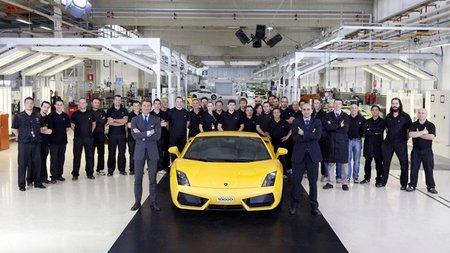 Sale de fábrica el Lamborghini Gallardo número 10.000