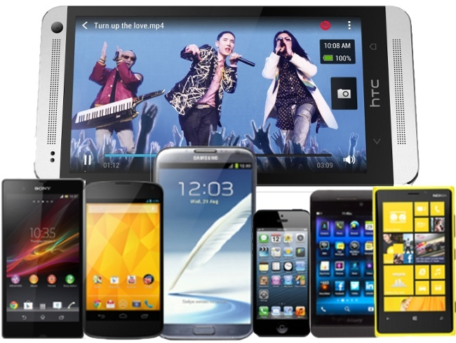 HTC One vs Sony Xperia Z vs Gogle Nexus 4 vs Samsung Galaxy Note 2 vs BlackBerry Z10 vs Nokia Lumia 920
