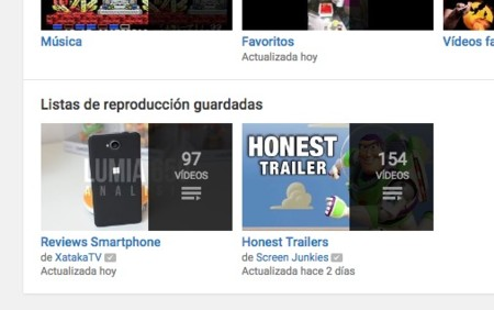 Listas Reproduccion Guardadas Youtube