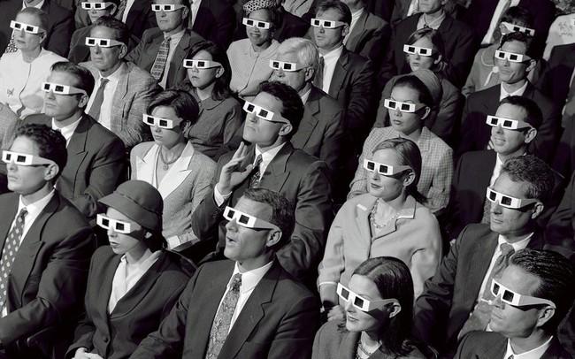 Público con gafas 3D