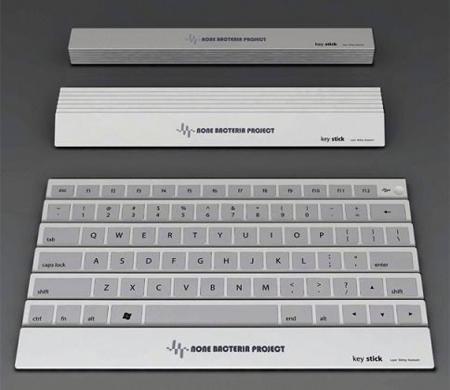 Keystick: teclado plegable