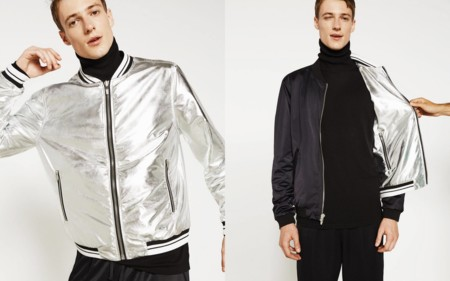 Gucci Silver Bomber Jacket Zara Trendencias Hombre Fall Winter 2016