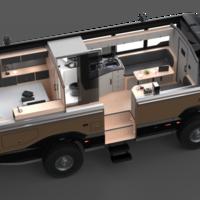 Torsus Praetorian Overlander, un autobús todoterreno camperizado al estilo de una lujosa autocaravana