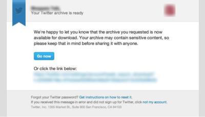 Twitter activa progresivamente la herramienta para descargar todos nuestros tweets