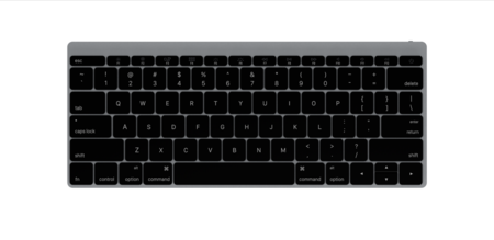 Keyboard Front Gray