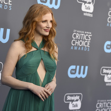 Jessica Chastain es la princesa Mérida de 'Brave' en los Critics' Choice Awards 2018