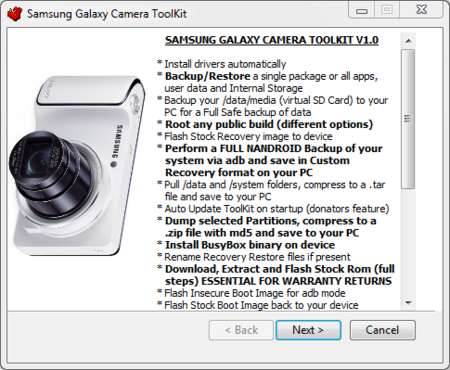 Samsung Galaxy Camera recibe su Root Toolkit