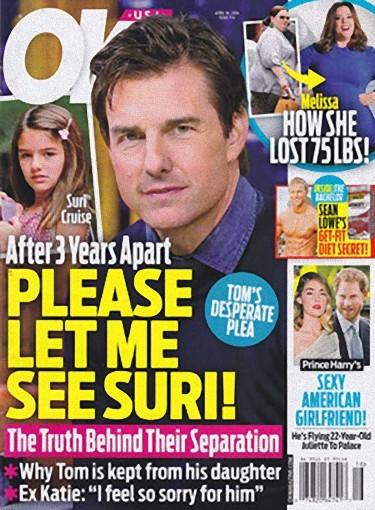 Y Tom Cruise que quiere ver a Suri