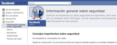 Facebook Safety, hazte fan para conocer los cambios en la política de seguridad