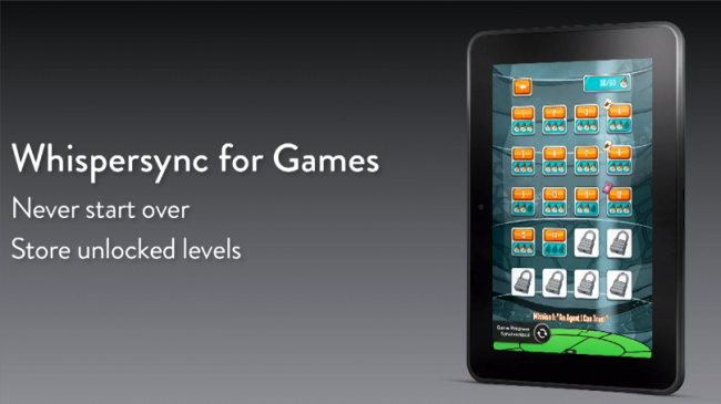Amazon Kindle Fire Whispersync for Games