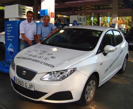 Gerhard Plattner y SEAT Ibiza Ecomotive