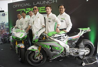Atractiva nueva decoración para las Honda del Team Drive M7 Aspar