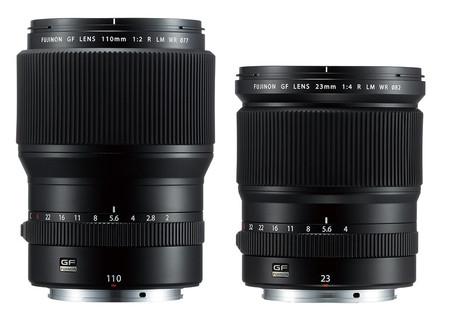 Fujifilm amplía su catálogo de ópticas GF con el Fujinon GF 110 mm F2 y GF 23 mm F4