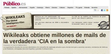 Wikileaks, la CIA en la sombra y el filón de Público
