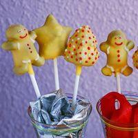 Cake pops de mazapán para despedir la Navidad. Receta