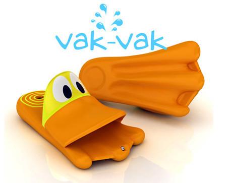 Chancletas Vak Vak, con pies de pato
