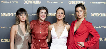 Aitana, Amaia, Ana Guerra y Miriam Rodriguez posan y brillan juntas en el photocall de los Premios Cosmopolitan 2018