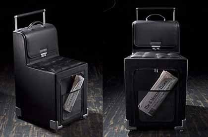 La maleta para sentarse