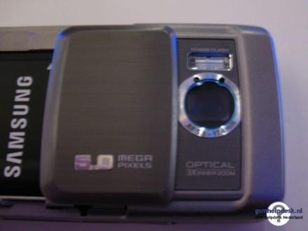 Samsung G800, con zoom óptico de 3 aumentos
