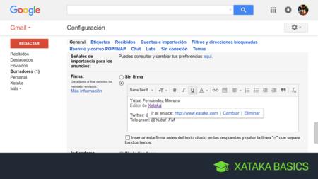 Cómo configurar tu propia firma en Gmail