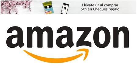 Llévate 6 euros gratis al comprar 50 euros en Cheques Regalo de Amazon