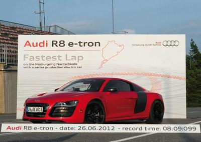 El Audi R8 e-tron se acerca a los 8 minutos en Nürburgring Nordschleife