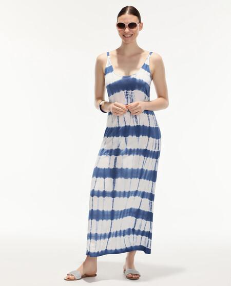 Vestido De Playa Tie Viscosa Dye