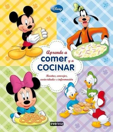 """""""Aprende a comer y a cocinar"""" en este libro protagonizado por los personajes de Disney"""