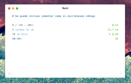 Numi, una calculadora inteligente para tu Mac