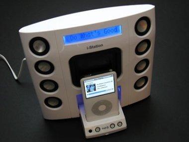 Dock con pantalla y altavoces para el iPod