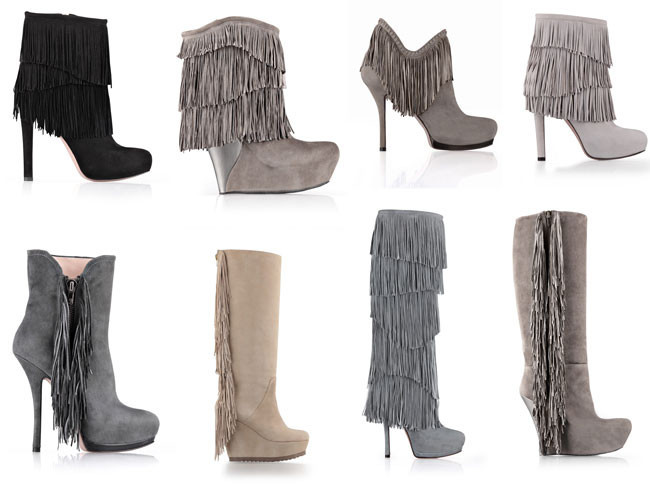 Este otoño pasea tus flecos en botas y botines