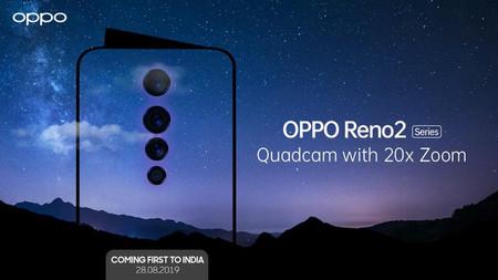 Los OPPO Reno2 se presentarán el 28 de agosto con cuatro cámaras y zoom óptico de 20 aumentos