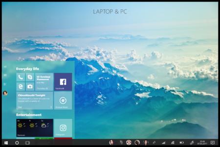 Este diseño conceptual de Windows 10 nos da una idea de lo que podría llegar a ser Project Neon