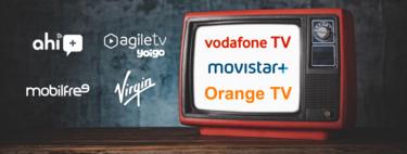 Comparativa de la TV de Movistar, Vodafone, Orange, Yoigo, Virgin y otros: canales, precio y ventajas
