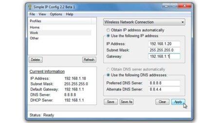 Simple IP Config: Cambia fácilmente diferentes configuraciones de IP entre casa y el trabajo